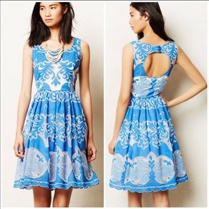 New Anthro Tracy Reese Stella Lace Azure Dress 4P